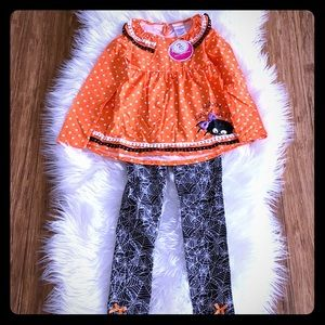 Happy Halloween Spider Tunic with Web Leggings